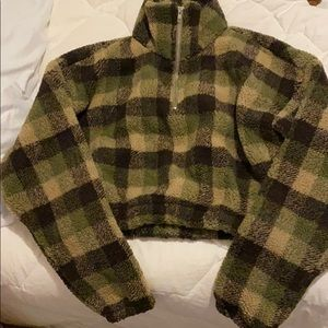 ZAFUL green plaid sweater